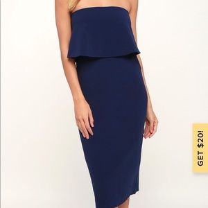Lulu's Dresses - Navy Dress from LuLu's
